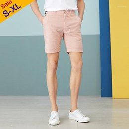 2021 mens rosa pantaloni slim fit a quadri Clearance Vendita Mens Casual Shorts Summer Plaid Shorts Pink Colore rosa 95% Cotton 5% Spandex High Qulity Short Pant Maschio Slim Fit S-XL1