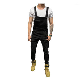 2021 jeans uomo esercito bianco Moruancle Men's Skinny Stretch Stretch Denim Bib Bib Tuta Slim Jeans Bretelle Sulsuit Tute Black Bianco Army Green Red Kaki1