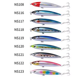 Água salgada top pesca pesca iscas on-line-NOEBY 3PCS NBL9494 Sea Lure Stickbait Lature Lures Top Water 160mm 58g 190mm 86g GT Pesca Saltwater Stick Bait Tackle Y200829