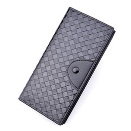 carpeta de los hombres tejida Rebajas Hot Men S Wallet Men S Long Tejido Patrón Monedero Monedero Multi Card Multi Fashion Casual Open Plus Billet 3305