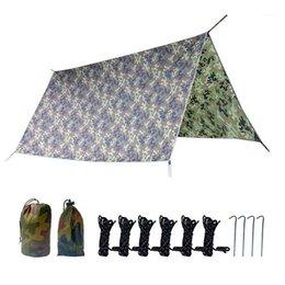 3x3m Camouflage Sun Shelter Awning Tent Tarp Outdoor Camping Sunshade Canopy UK
