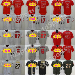 Anjos de beisebol on-line-Homens Mulheres Crianças Juventude 2020 Anjos Jerseys 6 Anthony Rendon 27 Mike Trout 17 Shohei Ohtani Baseball Jerseys