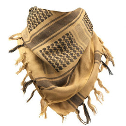 wüste gesichtsmaske  Rabatt Neue Männer Schal Tactical Wüste Arabische Keffiyeh Schal Camouflage Head Damen Arabisch Cotton Paintball Thick Face Mask