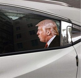 aufkleber aus autofenster Rabatt Wahl Trump Abziehbild-Auto-Aufkleber Biden Lustige links rechts Fenster Peel Off wasserdichte PVC-Auto-Fenster-Aufkleber Party Supplies OWD2093