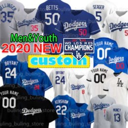 Beisebol de angeles on-line-Dodgers 5 Corey Seager 50 Mookie Betts Baseball Jersey Julio Urias Walker Buehler Cody Bellinger Los Justin Turner personalizado Angeles Hernandez