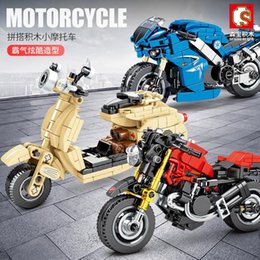 Giocattoli del modello del motociclo online-Technic City Motorcycle Bricks Creator Racing Moto Motorbike Model Building Blocks Kit per bambini Boy Toys Gift Eucolational
