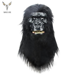 2021 máscaras de gorila Waylike Halloween Máscara Chimpanzé cabeça Máscara Cosplay Halloween Party Gorilla animal Proporciona