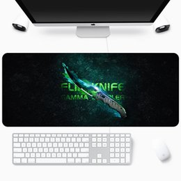 serrure de grève Promotion Grand CS Go Gaming Mousepad Couteau Counter Strike Keyboard Bureau 70x30CM Computer Souris Pad de Souris Non-Skid Bord de bureau de bureau LJ201031