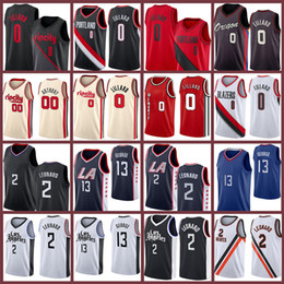 Basketball-trikots paul george online-Damian Kawhi 0 Paul Lillard George 2 13 Leonard Carmelo 2021 New Basketball Jersey Los 00 Anthony Angeles Trikots