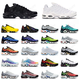 Синие кроссовки онлайн-tn Plus SE Tn Tuned 1 Hybird Mens Running shoes Men Sneakers Tns Fashion Brand shock orange Womens Trainers sports sneakers 36-45