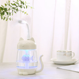 Lamp Humidifier Cute Bear LED Humidifier Air Diffuser Purifier Atomizer WH