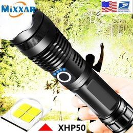 2021 torcia elettrica 26650 cartina EZK90 Dropshipping LED XHP50 Torcia tattica Torcia elettrica USB Ricaricabile Zoomable Zoomable 18650 26650 Torch1