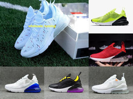 Zapatos hombres corriendo logo online-Discount Promotion Nike Air Max 270 Highest quality men shoes breathable running shoes men and women sneakers with logo sports Casual shoes