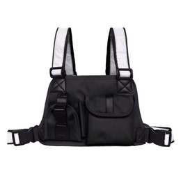 Rádio militar on-line-Tactical Vest Peito Bag for Radio Homens Reflective Strap Harness Chest Frente Pacote Bolsa Holster militar Vest Chest Rig Bag 2019 C1026