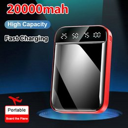 pantalla lcd banco de potencia Rebajas 20000mAh Mini Power Bank portátil cargador LCD Digital Pantalla de Power Bank Dual USB puertos para Xiaomi Samsung iPhone Q0115