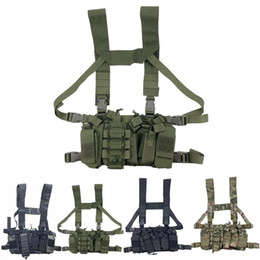 Rádio militar on-line-Tactical Rig Rig Rig Rig Radio Harness Front Bolsa Frontal Cold Rig Rig Bag Ajustável Functivo Dois Way Radio Cintura Cintura Y201123