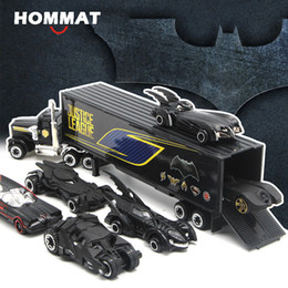 Modello batmobile online-Hommat Weels Hot 1:64 Scala Pista a rotella a caldo Batman Batmobile Modello Auto Lega Diecasts Veicoli giocattolo Modello auto giocattoli per bambini LJ200930