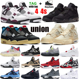 Grüne turnschuhe online-Nike Air Jordan 4 Retro Bred 2019 What The Basketball Shoes 30. Jahrestag Laserschlick Red Splatter Singles Day Lightning Reines Geld Oreo Men 4 Sneakers 40-47