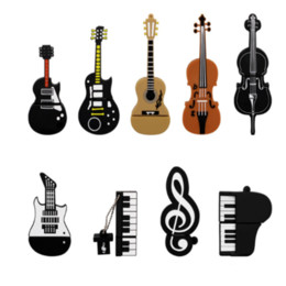 destello de guitarra Rebajas USB Flash Drive Violin / Guitar Pen Drive Instrumentos musicales Memory Stick 4GB 8GB 16GB PENDRIVE FLASH MEMORY CARD