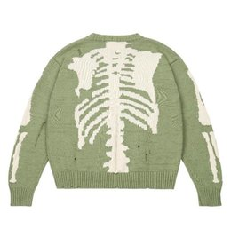 Suéteres de esqueleto online-20FW Skeleton Hole Knitting Jersey Otoño Invierno Hombres Mujeres Suéter High Street Fashion Crewneck Sudaderas con capucha HFYMMY081