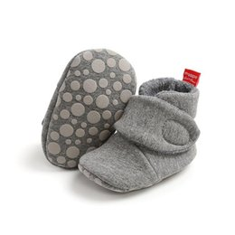 Estrella suave zapatos niño online-Newborn Baby Socks Shoes Boy Girl Star Toddler First Walkers Botines Cotton Comfort Soft Anti-Slip Warm Crob Zapatos