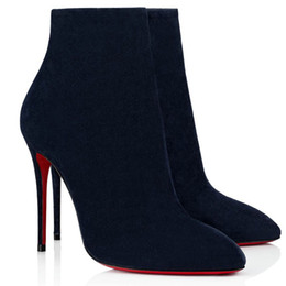 bottines bleues sexy Promotion 2020 Femme Chaussures Chaussures Booty Bottines Bottines Bottines Mode Sexy Dames Fond Red Fond High Talons Chaussures Pumps Chaussures De La soirée Chaussures avec boîte