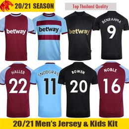 jerseys nobles Rebajas 20 21 West Ham United Camiseta de fútbol BOWEN 2020 2021 SNODGRASS FORNALS Camiseta de fútbol ANTONIO HALLER NOBLE Men + Kids Kit 125th tercera camiseta negra
