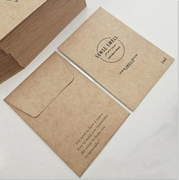 carta spessa kraft Sconti Busta in miniatura Vintage Kraft Beropelope Busta Busta Busta stampata Creativity Packet Packaging Scheda Borsa Cucitura Spessa Carta marrone HWC5847