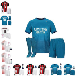 19//20 AC Milan Soccer Suits Jerseys Socks Kids Football Socks For Boys Adults