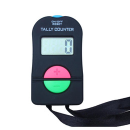 conteggio elettronico Sconti New Handled Electronic Digital Tally Counter Clicker Security Sport Gym School High Quality Black Co Sqcfba Home2006