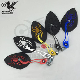 2021 moto calcomanía de araña Spider Decal Universal Pit Bike Parts 8mm 10 mm Motorbike Vista posterior Accesorios Scooter Mirror Moto RearView Motorcycle Trasero View1