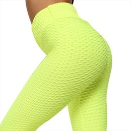 2021 jaune leggings femmes  Guching Push Up Leggings pour Vêtements de fitness 2020 Bodybuilding Sexy Tergging Sportswear Temps d'aventure Yellow Womens Pantalon de survêtement jaune leggings femmes  pas cher