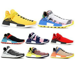 2021 raza humana nuevo corredor pharrell New Human Race Hu Trail Pharrell Williams Mens Zapatillas para correr para hombres Mujeres Amarillo Red Nerd Black Runner Sports Designer