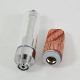 Carrinho de madeira on-line-.5ml 1.0ml Wood Tip Carts Flat Ceramic Coil 510 Vape Cartridges Packaging Dabwood Disposable Vape Pen Thick Oil Glass Tanks