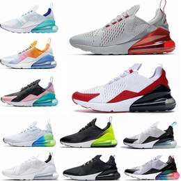Scarpe da ginnastica arcobaleno per le donne online-270 shoes Cheap women Running shoes White pink Mowabb Washed Coral Space Purple Training Outdoor Sports womens Trainers Zapatos Sneakers