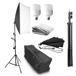 Fotografie weiche lichter online-Photo Studio Equipment Fotografie Softbox 50x70CM Professionelle Dauerlicht System Soft-Box für Portrait Fashion Shooting