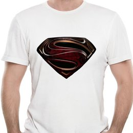 Superman preto camiseta on-line-Homens T T-shirt Camisa Man of Steel Superman tshirts pretos do vintage Mulheres T-shirt