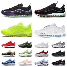 Dessus blanc cassé en Ligne-nike air max 97 airmax 97s off white Have a Nike Day MSCHF x INRI Jesus Worldwide UNDEFEATED UNDFTD des Chaussures de course de qualité supérieure Hommes Femmes Trainers Sneakers
