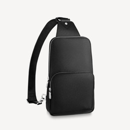 Sacos frescos do desenhista on-line-N41719 SAC Avenue Sling Bag Designer Homens Tela Cruz Cruz Crossbody Sporty Casual Cool Tote Messenger Ombro Cintura Cinto Saco Bumbag N41720