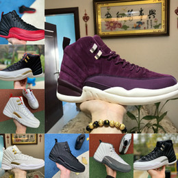 Schuhe meister online-New 12s Winterized WNTR Gym Red Michigan OVO White Mens 12 Basketball Shoes Fiba The Master Flu Game Taxi The Master Designer Trainers Shoes