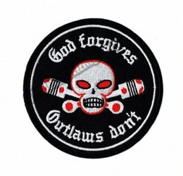 Внеплановые исправления онлайн-Hot Sale! GOD Forgives Outlaw Don't Motorcycle Embroidered Patch Biker Iron On Patch for Jacket Vest Rider Embroidery Patch Free Shipp p7UX#