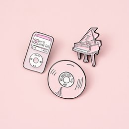 jouer des cds Promotion New Play Music Mp3 Badge Bande Piano Radio Cd Jukebox Phonographe Sac Shirt Brooches Lapel