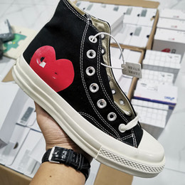 Dot designer online-CDG Play x Converse 1970s 2020 neue Luxus-Klassiker Skate Schuhe Chuck Leinwand spielen gemeinsam Big Eyes High Top Dot Herz-Frauen-Mann-Mode-Designer-Turnschuhe Chaussures