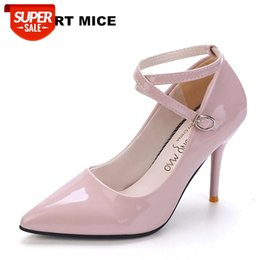 Sapatos salto online-2019 women shoes wedding high heels women sapato feminino chaussure femme pumps heel sexy sapatos de salto alto Ankle Strap #Ho4D