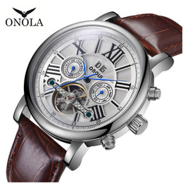 orologio meccanico automatico fabbrica diretta Sconti Tourbillon Automatic Mechanical Business Casual Mens Guarda Uomo Impermeabile Orologio Impermeabile Fabbrica Vendite Direct Sales da polso