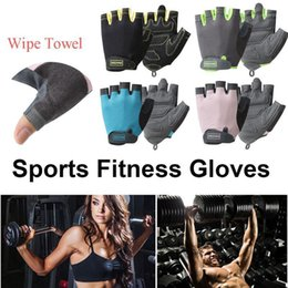 2021 guanti da ciclista per il gel pad Half Finger Cycling Gloves Mountain Bicycle Mezza Finger Gel Pad Anti-Slip Guanti Sport Gel Pad Traspirante Moto MTB Glove1 sconti guanti da ciclista per il gel pad