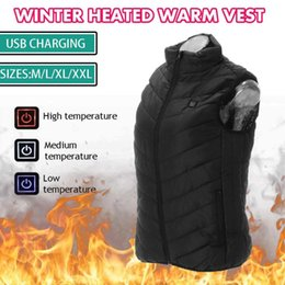2021 wanderweste xl M / L / XL / XXL USB-elektrische erhitzte Weste warmer Winter Heizung Weste-Mantel-Jacke Backpacking Camping Wandern Westen Outdoor-Reisen Cloth
