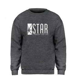sudadera superman hombre Rebajas STAR Labs Sudadera Superman Serie Hombre Superior Jumper The Flash Gotham City Comic Libros Black Sweatshirts Fleece Streetwear XXL