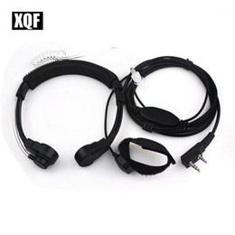 2021 garganta walkie-talkie XQF Throat Mic Headset Fone de ouvido Pfor Walkie Talkie Baofeng Uv5r1