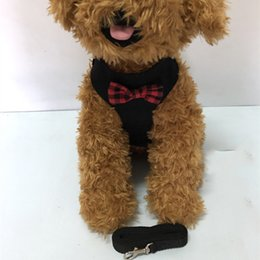 Vestito di cablaggio online-Cablaggi per cani da pet all'aperto Cablaggio classico Modello classico Imbracature per animali domestici regolabili Leashes Carino Teddy Leash Collar Suit Suit Small Dog Collar Accessori